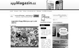 Internetová stránka www.app-magazin.cz