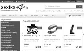 Internetová stránka www.sexikshop.eu