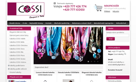 Internetová stránka www.cossi-kabelky.cz