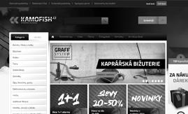 Internetová stránka www.kamofish.cz